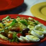 Summery Cherry Tomato Pasta Salad