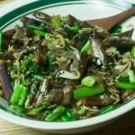 Stir-fried Japanese Eggplant and Cabbage