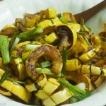 Roasted Delicata Squash with Green Onions
