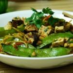 Thai Tofu Snow Pea Noodle Stir-Fry