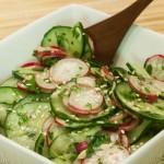 Asian Cucumber and Radish Salad with Cilantro