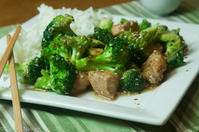Asian Hot Sweet Chicken Broccoli Stir Fry-1