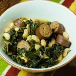 Hearty Collard Sausage Bean Ragout