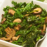 Kale with Portabello Mushrooms