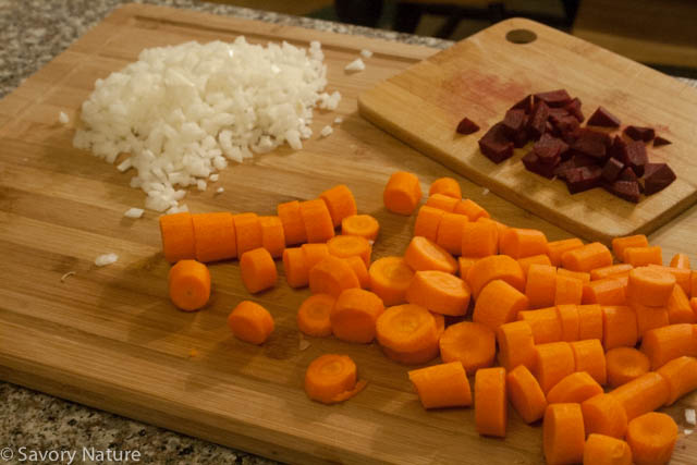 Carrots, Onions and Beets