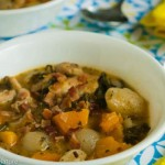 Chicken Stew with Butternut Squash, Pearl Onions and Kale