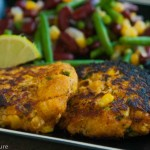 Curried Sweet Potato Crab Cakes