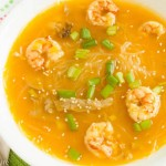 Thai Shrimp Noodle Butternut Squash Soup