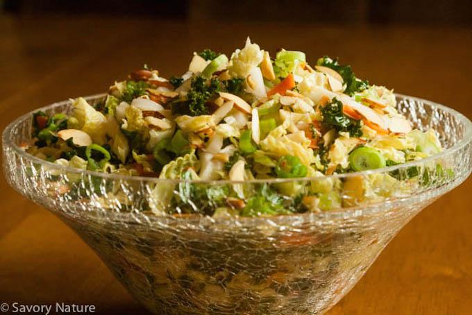 Napa Cabbage and Kale Slaw
