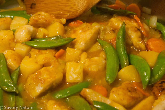 Sweet and Sour Chicken Cooking