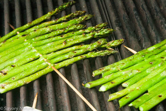 Skewered Asparagus on the Grill