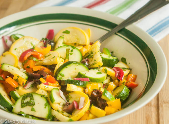 Yellow Squash And Zucchini Salad Recipe Savory Nature
