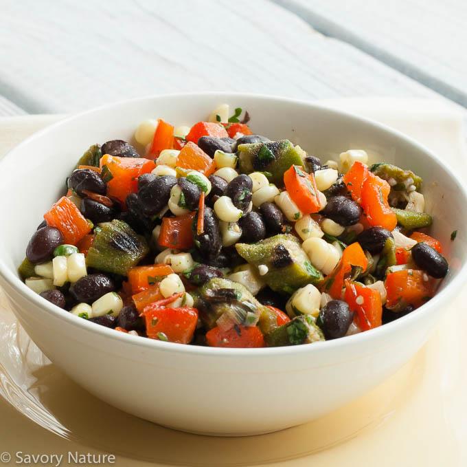 Grilled Summer Vegetable Black Bean Salad
