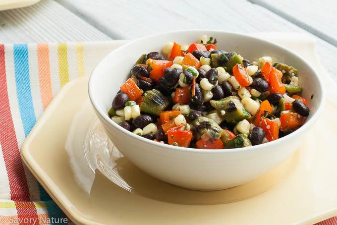 Grilled Summer Vegetable and Black Bean Salad