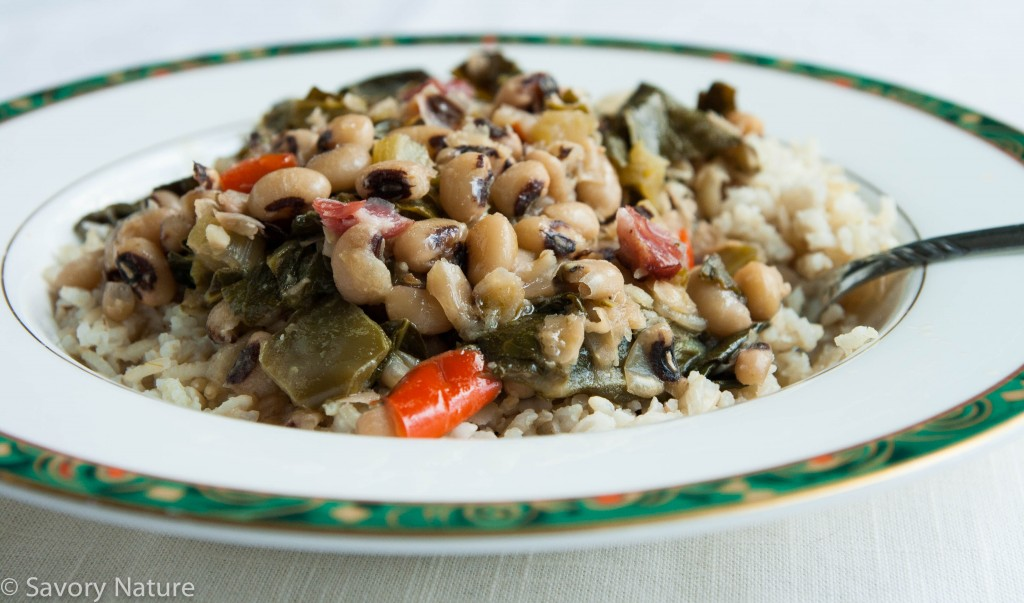 Hoppin John with Collards