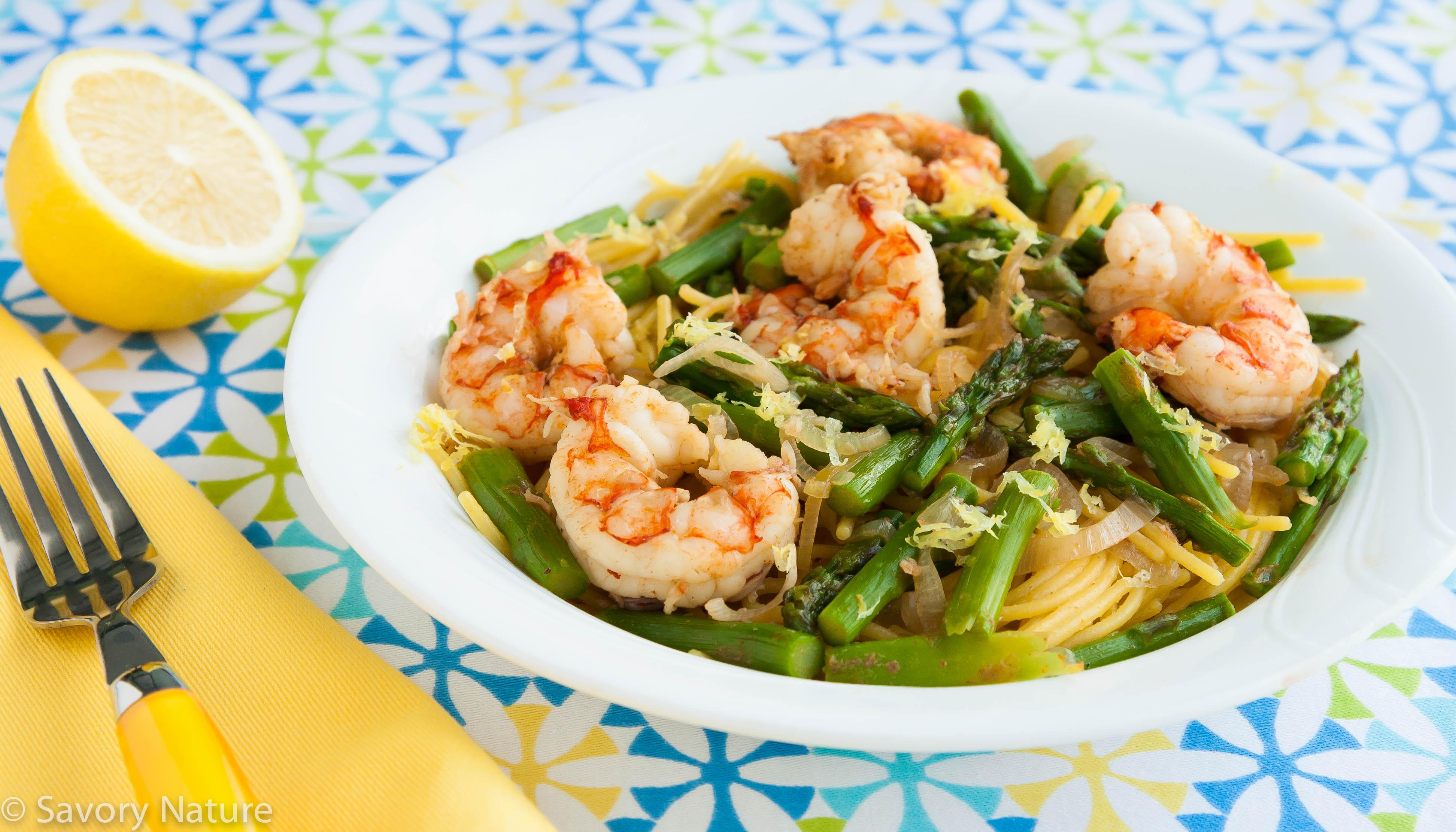 Asparagus and shrimp pasta recipe