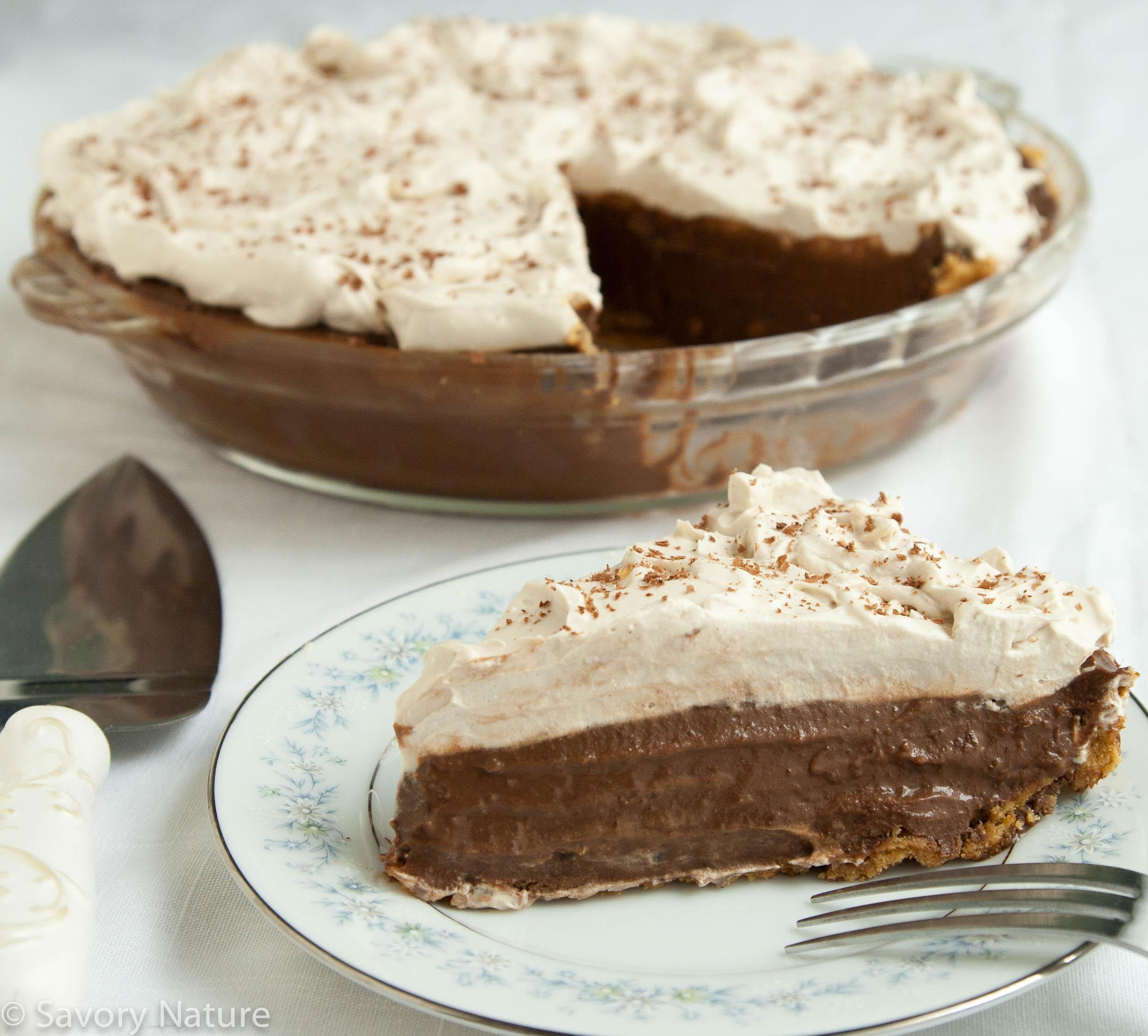 Coffee Chocolate Cream Pie - Dairy Free, Gluten Free