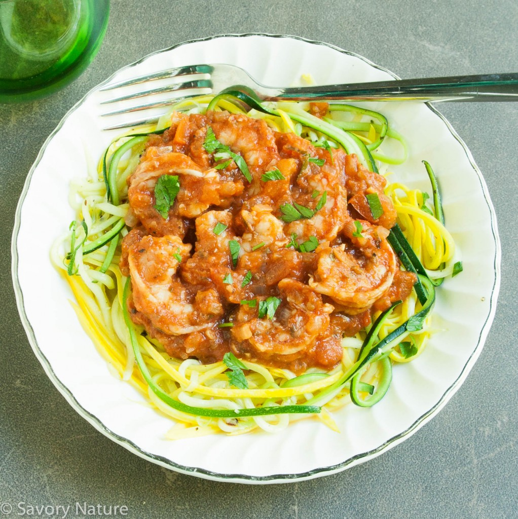 Shrimp Fra Diavolo over Zoodles_