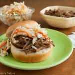Slow Cooker Pork Sandwiches w Maple Dijon Slaw