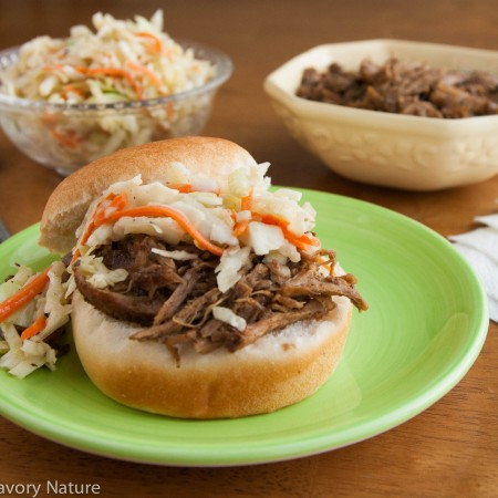 Slow Cooker Pork Sandwiches with Maple Dijon Slaw