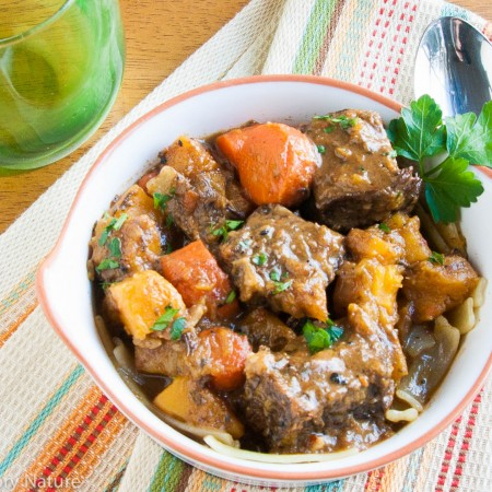 Beef Stew with Carrots and Butternut Squash