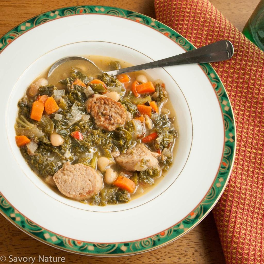 Sausage Bean and Kale Soup