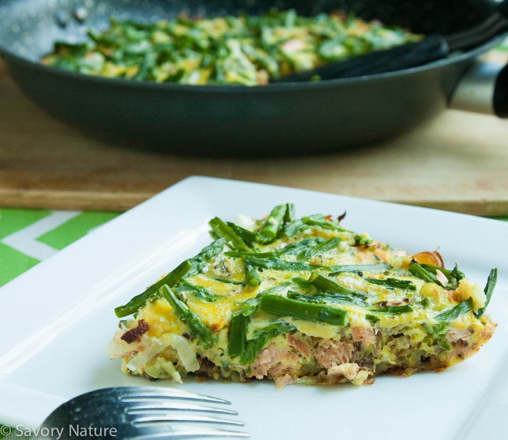 ... Salmon and Asparagus Frittata is an innovative way to incorporate