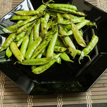 Grilled English Shelling Peas