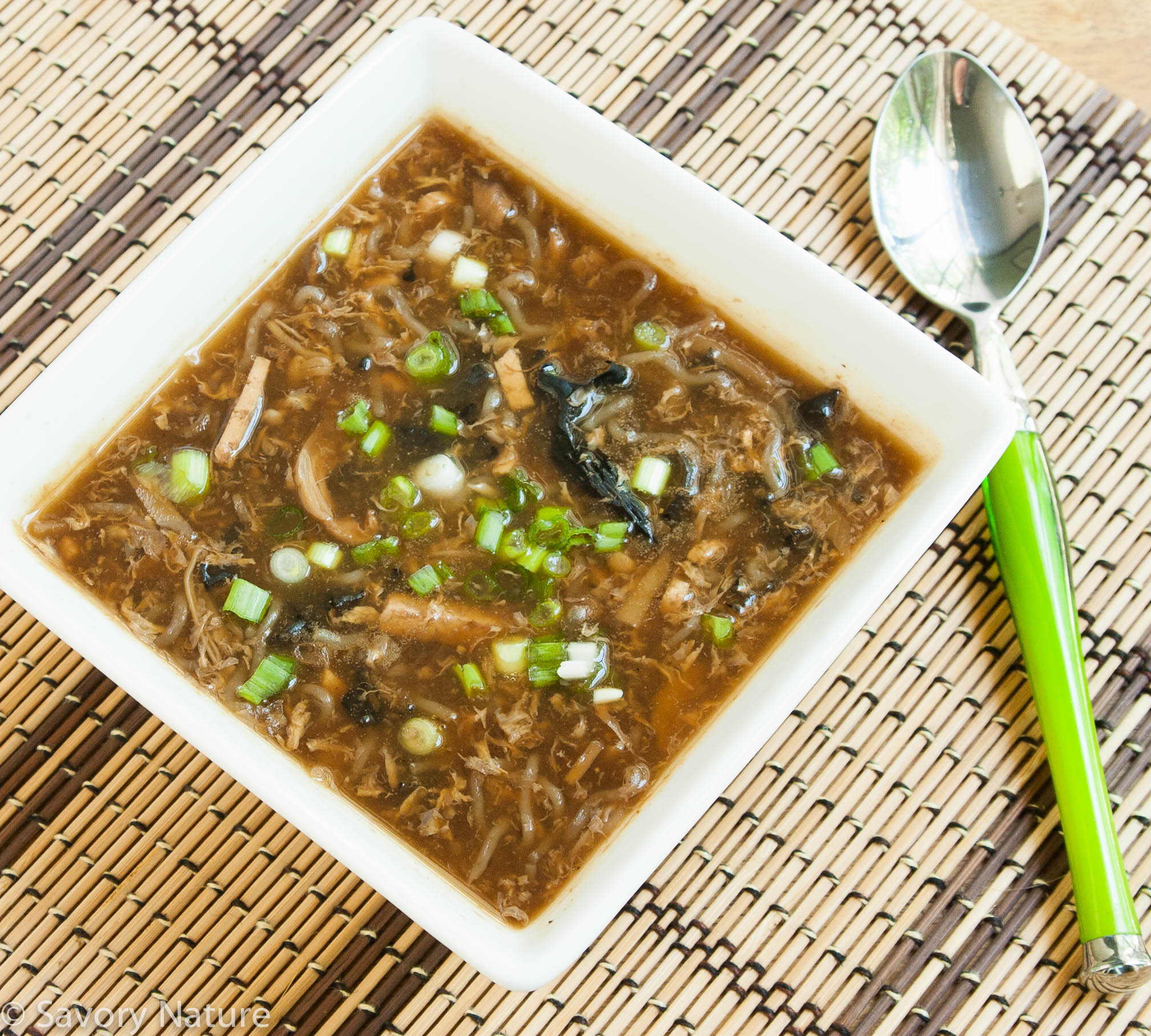 Hot and Sour Soup - Vegetarian - Savory Nature