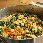 Moroccan Sweet Potato Spinach Cauliflower Curry