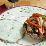 "Philly Cheese Steaks on Portobello Mushroom ""Buns"""